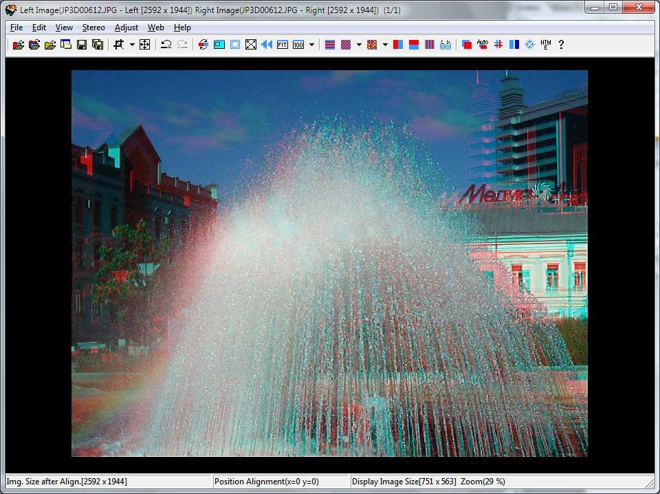 StereoPhoto Maker - выполненный анаглиф