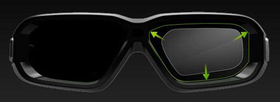 3D vision 2, увеличенные линзы